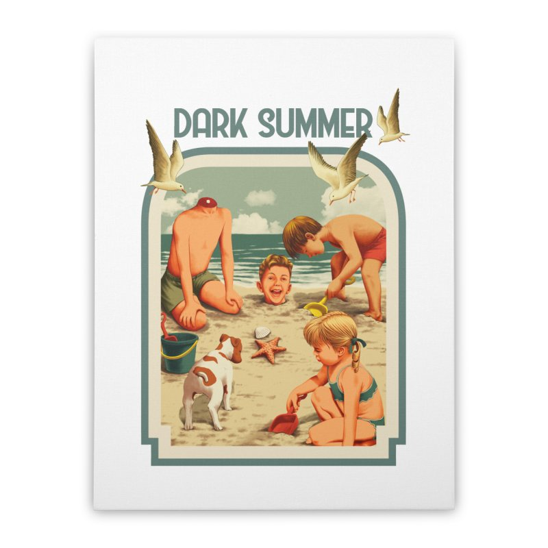 Dark Summer Home Stretched Canvas by kooky love's Artist Shop