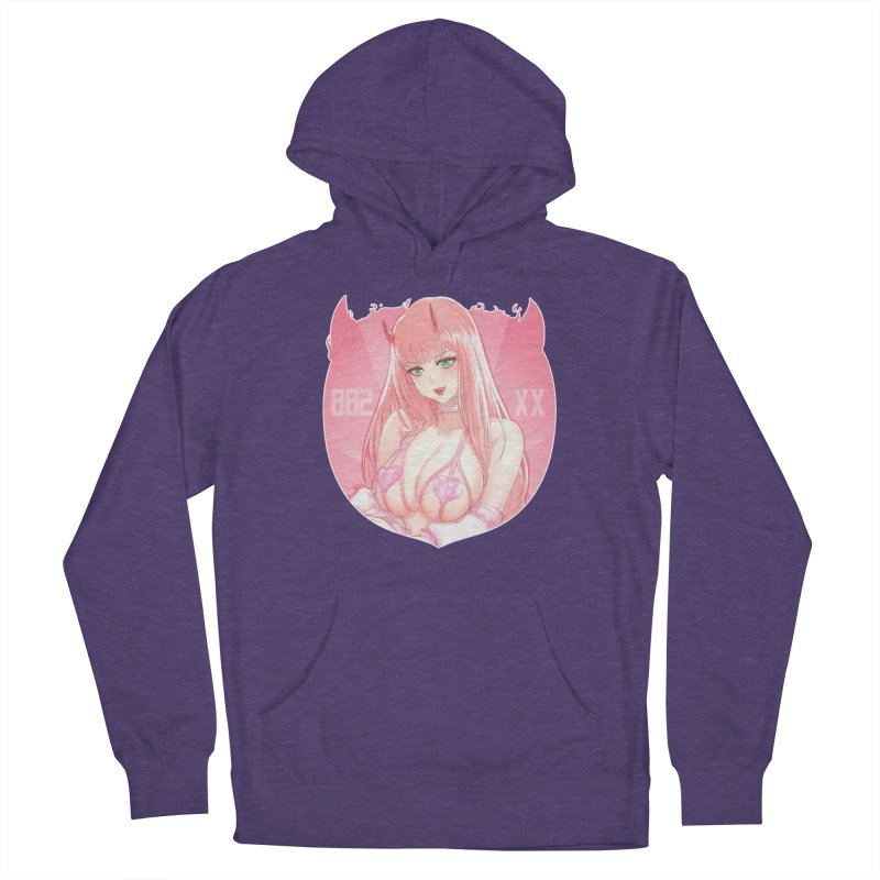 Pink Devil Women's Pullover Hoody by Koshiosaur Merch Store