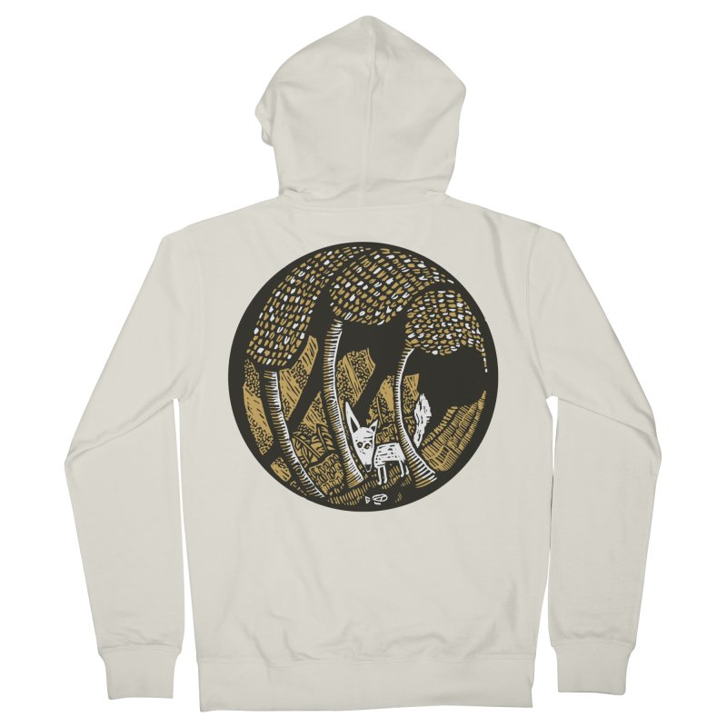 Deep forest Men's French Terry Zip-Up Hoody by kotocut's Artist Shop