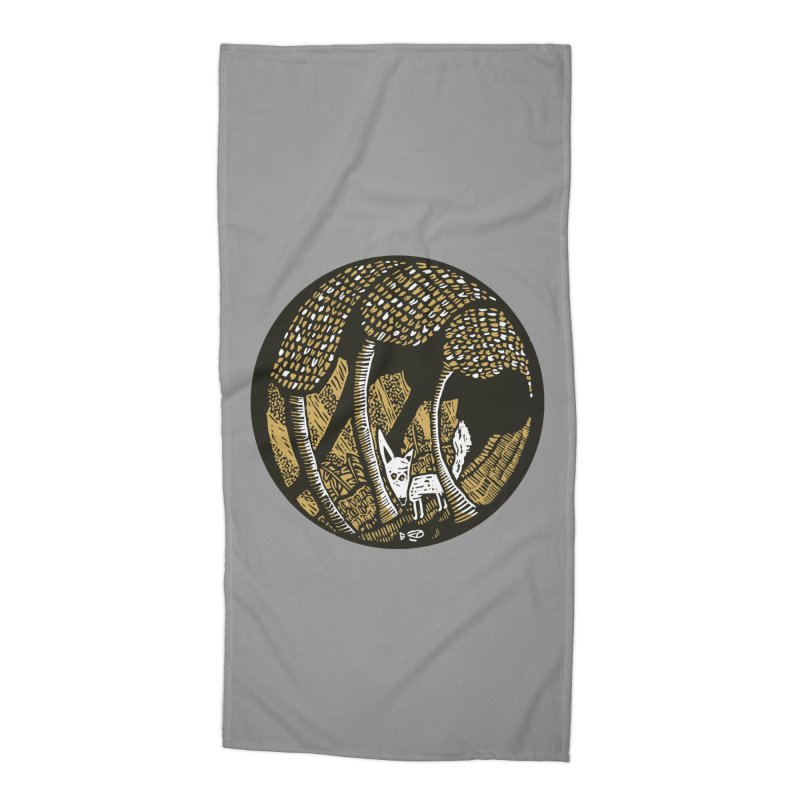 Deep forest Accessories Beach Towel by kotocut's Artist Shop