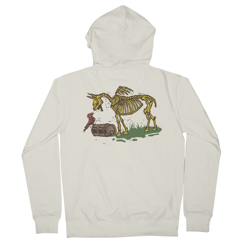 Yellow horse Men's French Terry Zip-Up Hoody by kotocut's Artist Shop