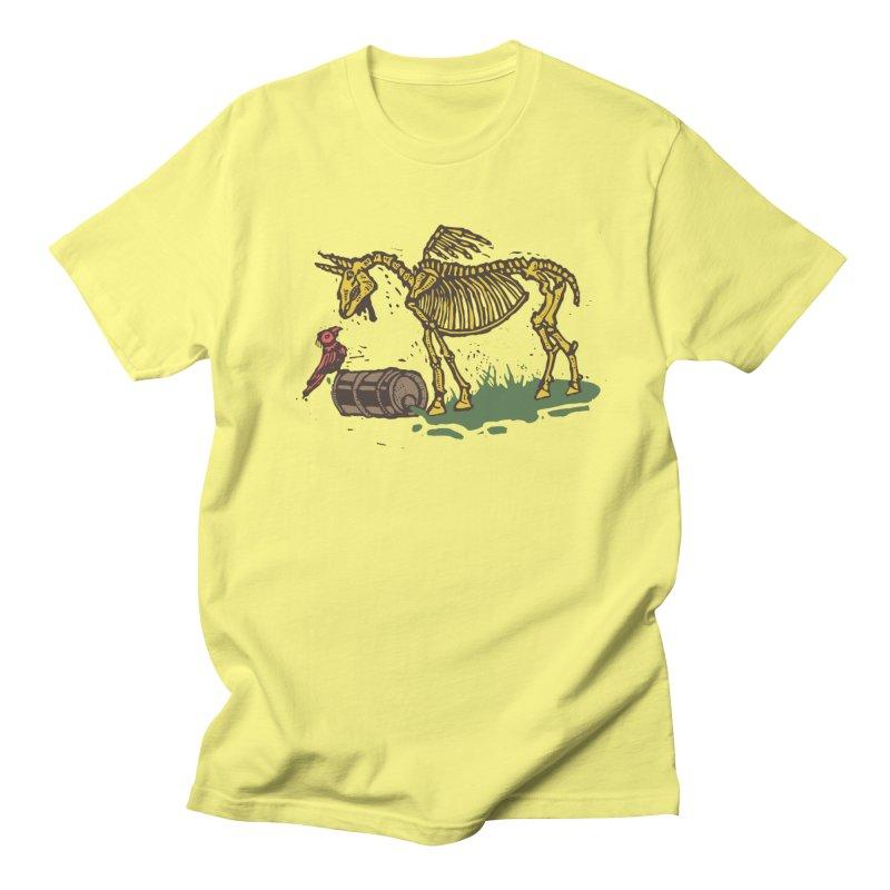 Yellow horse Men's Regular T-Shirt by kotocut's Artist Shop