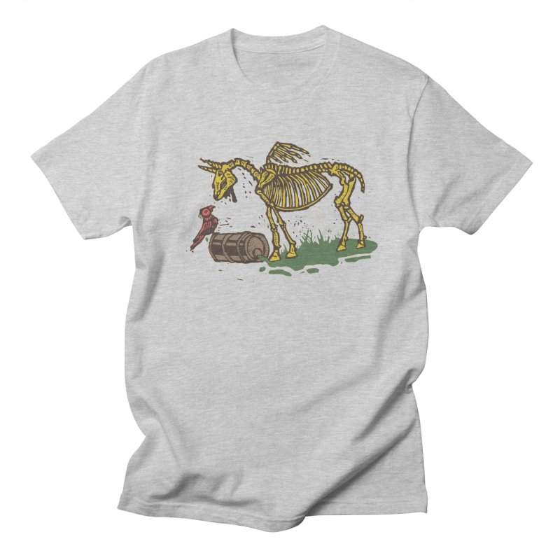 Yellow horse in Men's T-Shirt Heather Grey by kotocut's Artist Shop
