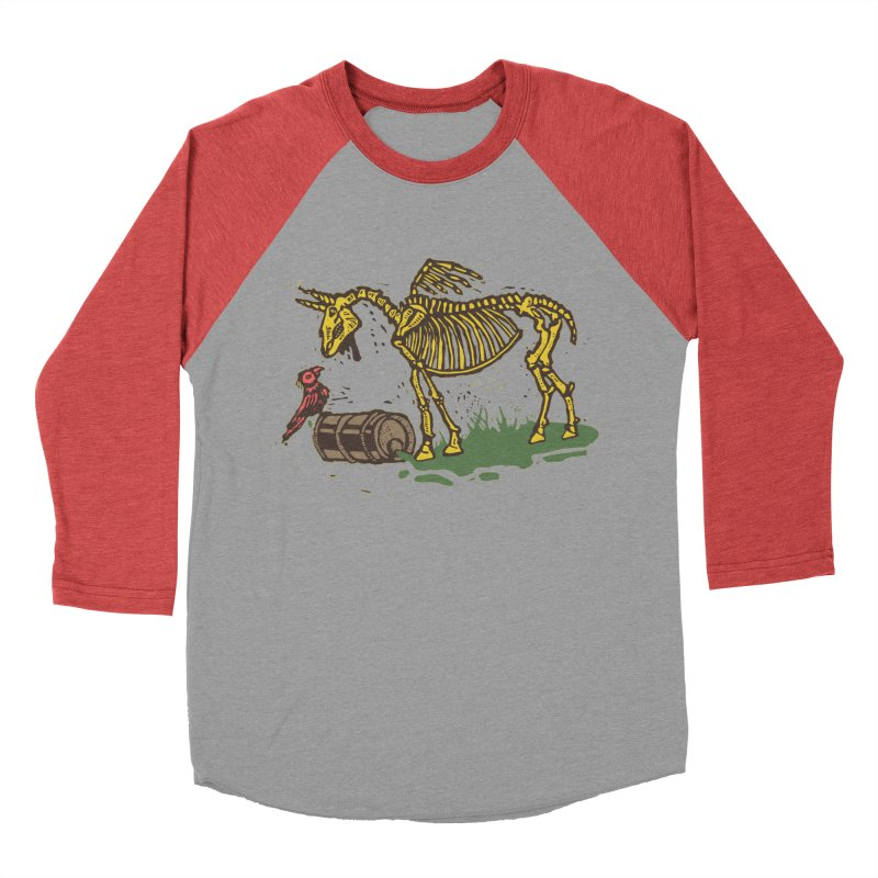 Yellow horse Men's Baseball Triblend T-Shirt by kotocut's Artist Shop