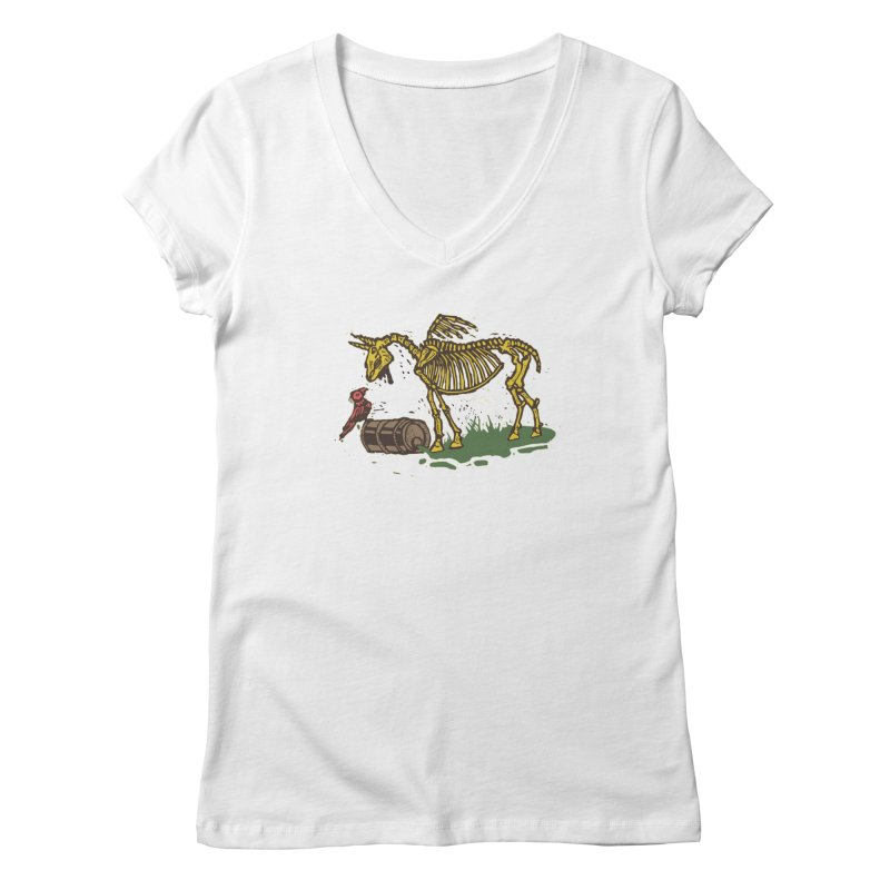 Yellow horse Women's Regular V-Neck by kotocut's Artist Shop