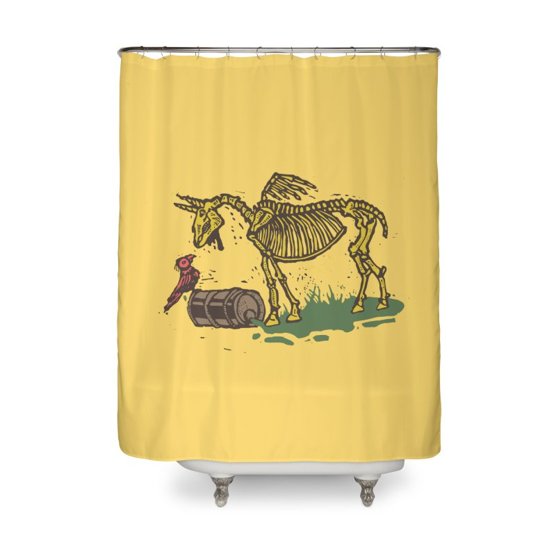 Yellow horse Home Shower Curtain by kotocut's Artist Shop