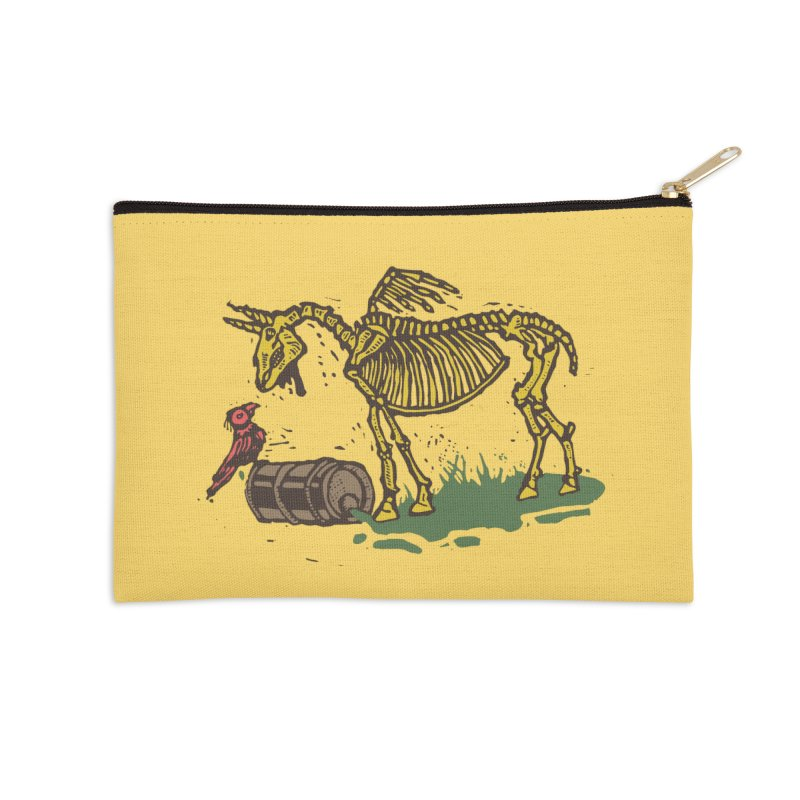 Yellow horse Accessories Zip Pouch by kotocut's Artist Shop