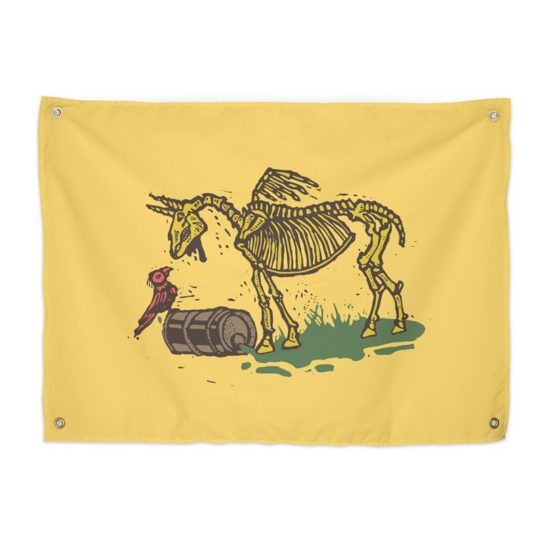 Yellow horse Home Tapestry by kotocut's Artist Shop