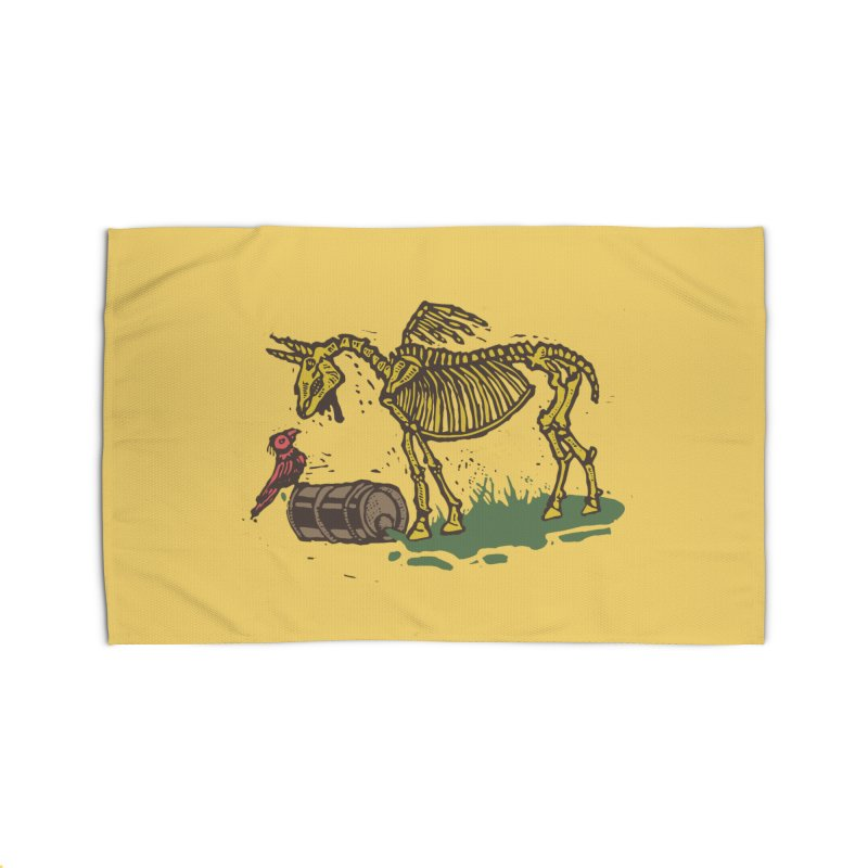 Yellow horse Home Rug by kotocut's Artist Shop