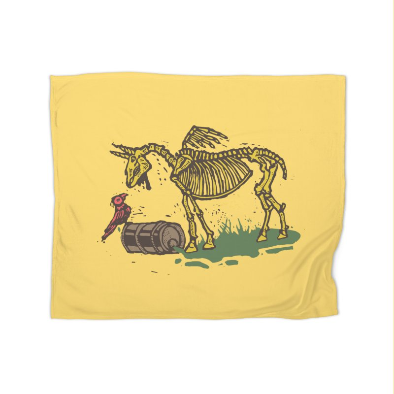 Yellow horse Home Blanket by kotocut's Artist Shop