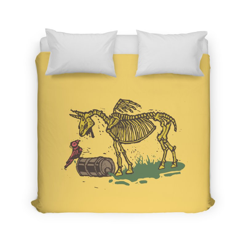 Yellow horse Home Duvet by kotocut's Artist Shop