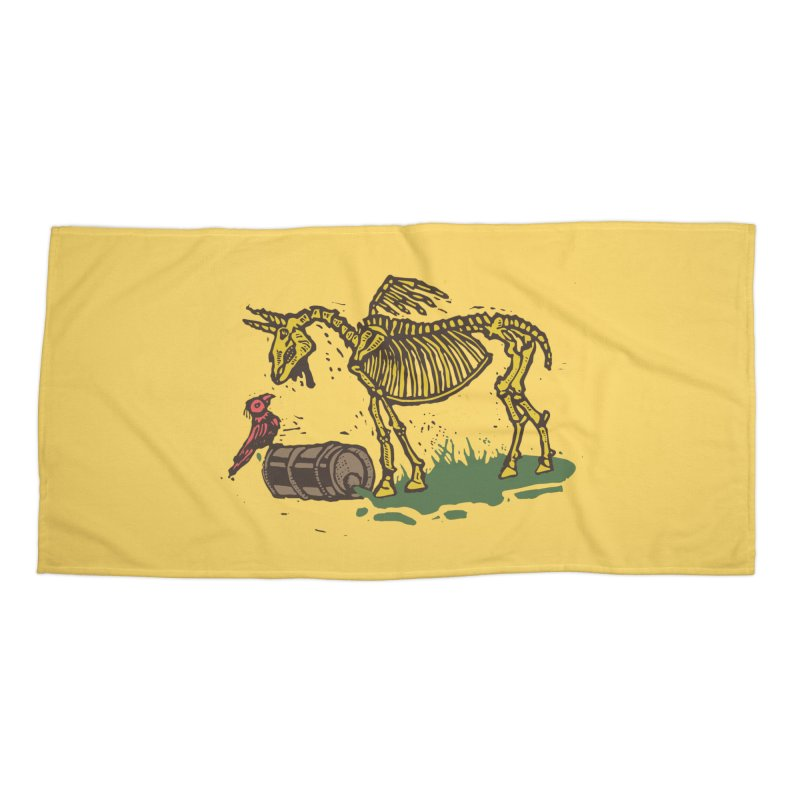 Yellow horse Accessories Beach Towel by kotocut's Artist Shop