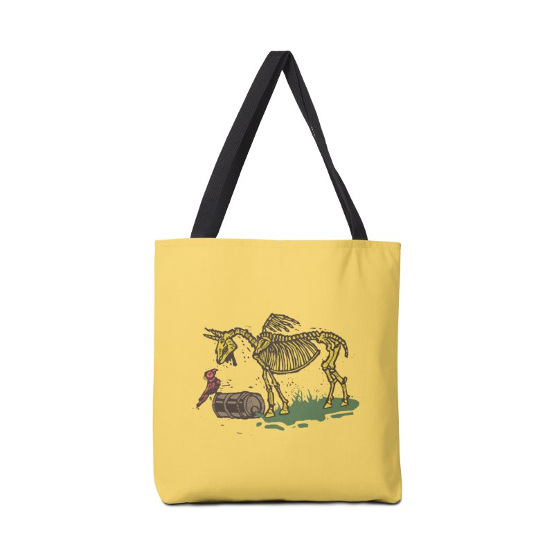 Yellow horse Accessories Bag by kotocut's Artist Shop