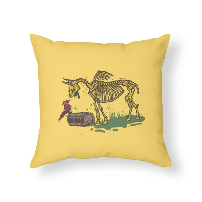 Yellow horse Home Throw Pillow by kotocut's Artist Shop