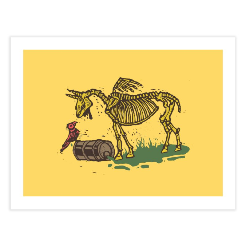 Yellow horse Home Fine Art Print by kotocut's Artist Shop