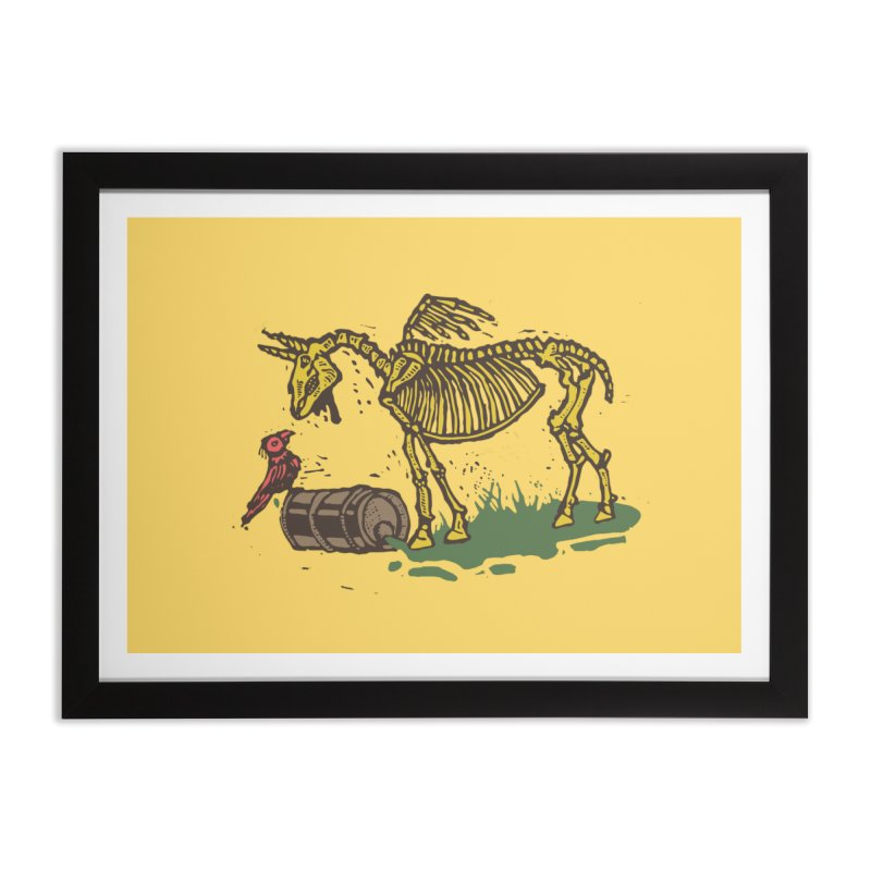 Yellow horse Home Framed Fine Art Print by kotocut's Artist Shop