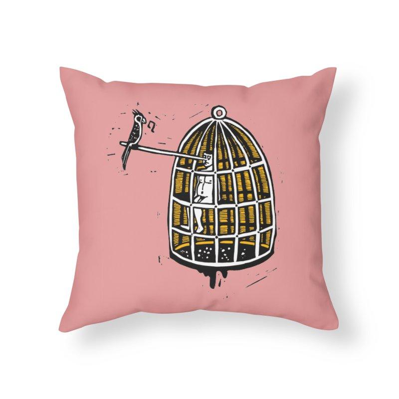 Liar Home Throw Pillow by kotocut's Artist Shop