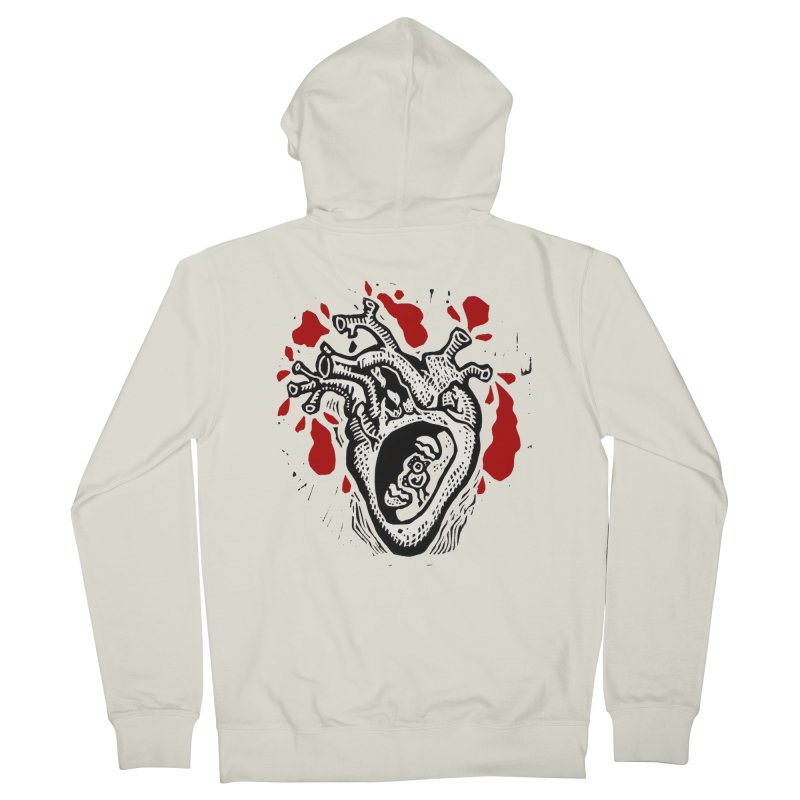 In my heart of hearts Men's French Terry Zip-Up Hoody by kotocut's Artist Shop