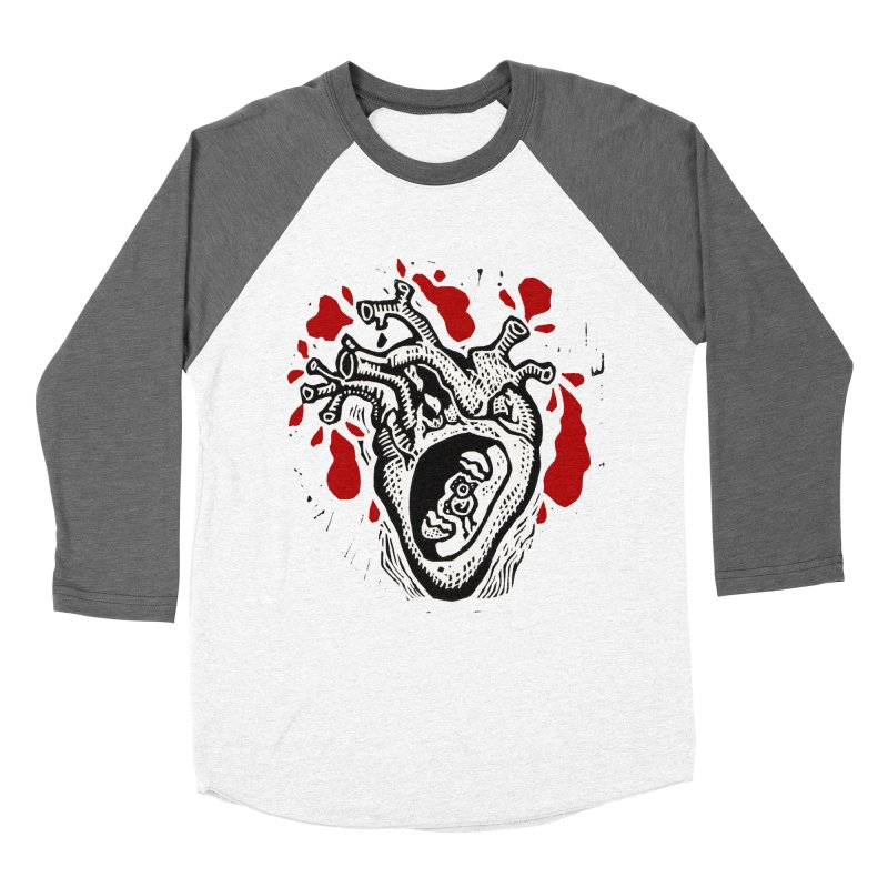 In my heart of hearts Men's Baseball Triblend Longsleeve T-Shirt by kotocut's Artist Shop