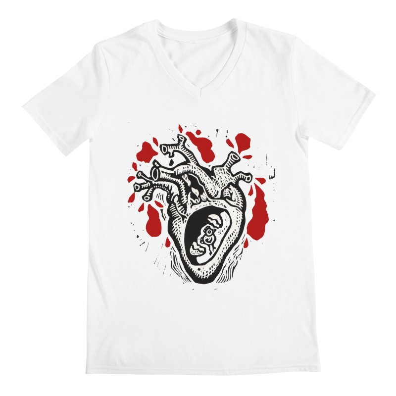 In my heart of hearts Men's V-Neck by kotocut's Artist Shop