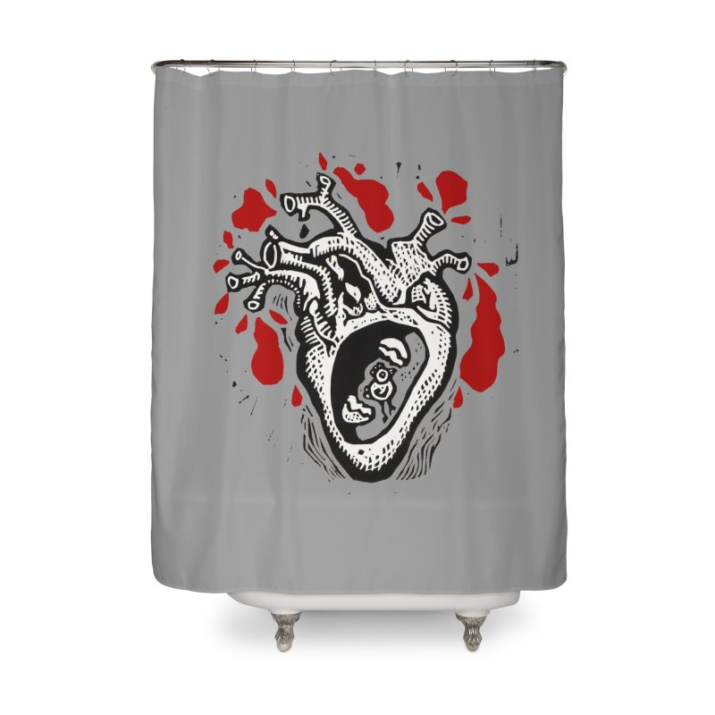 In my heart of hearts Home Shower Curtain by kotocut's Artist Shop
