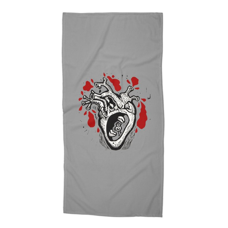 In my heart of hearts Accessories Beach Towel by kotocut's Artist Shop