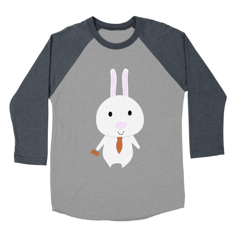 Mr Bunny Men's Baseball Triblend T-Shirt by 1001 bunnies