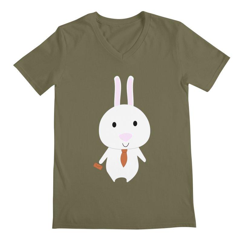 Mr Bunny Men's V-Neck by 1001 bunnies