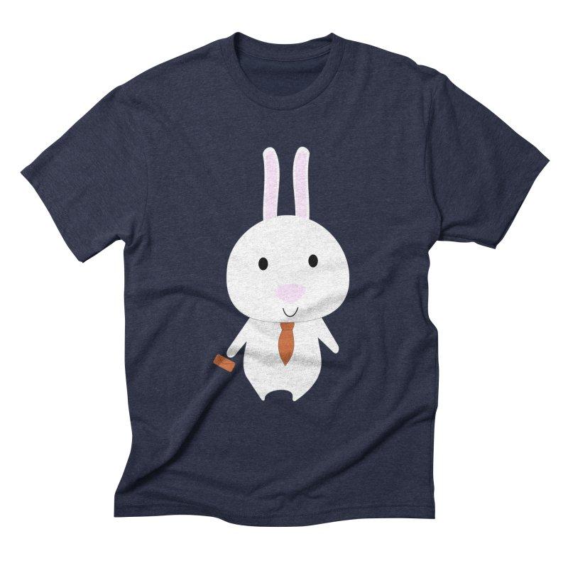 Mr Bunny Men's Triblend T-shirt by 1001 bunnies