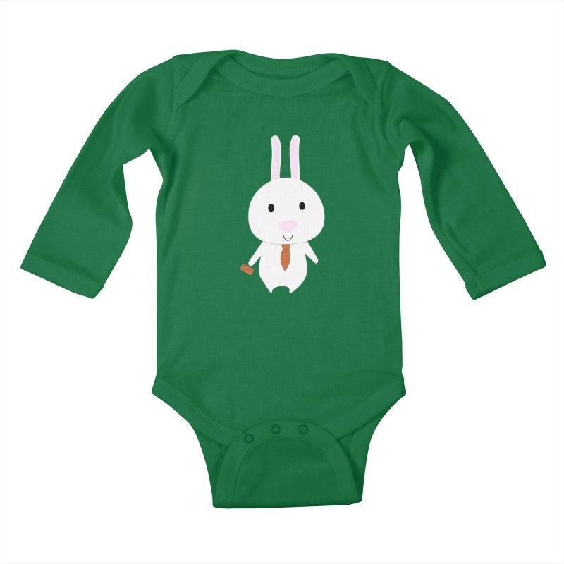 Mr Bunny Kids Baby Longsleeve Bodysuit by 1001 bunnies
