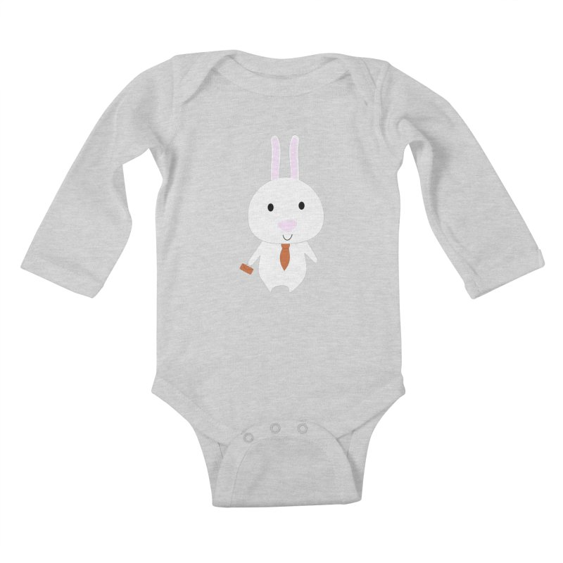 Mr Bunny Kids Baby Longsleeve Bodysuit by 1001 bunnies