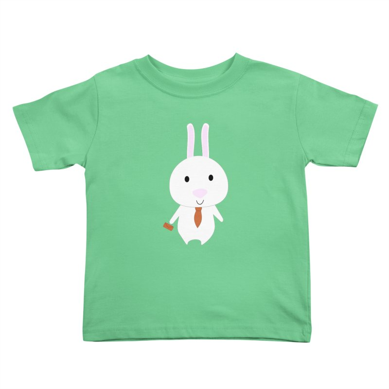 Mr Bunny Kids Toddler T-Shirt by 1001 bunnies