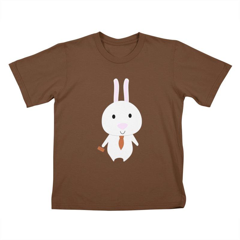 Mr Bunny Kids T-Shirt by 1001 bunnies