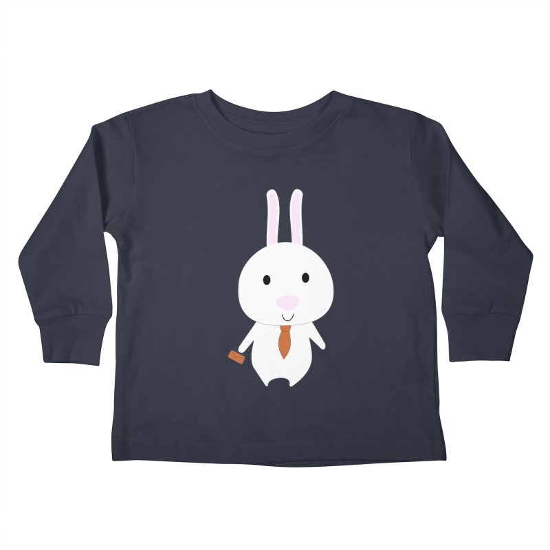 Mr Bunny Kids Toddler Longsleeve T-Shirt by 1001 bunnies