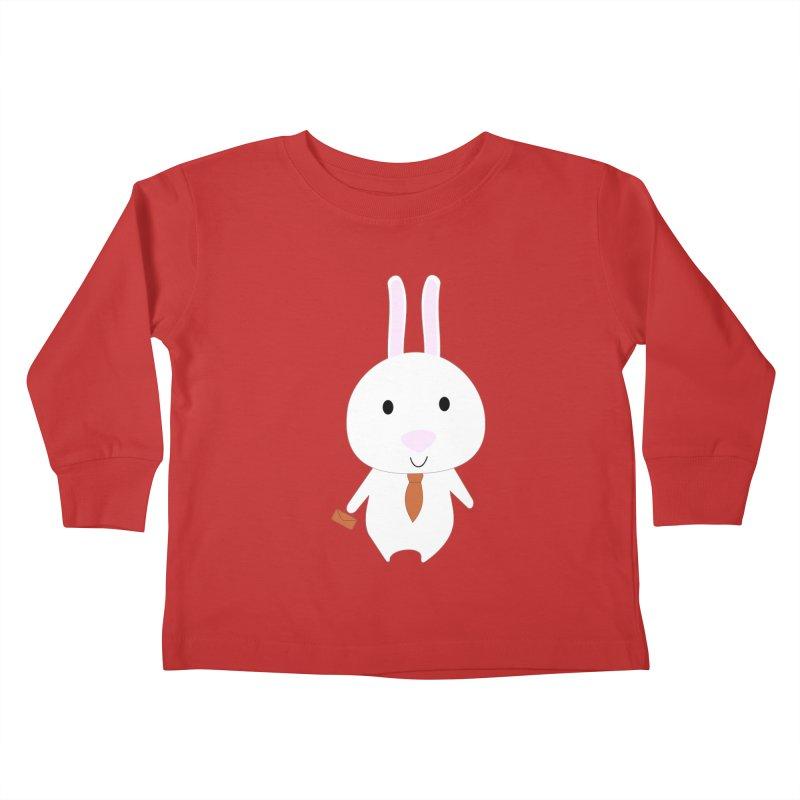 Mr Bunny Kids Toddler Longsleeve T-Shirt by 1001 bunnies
