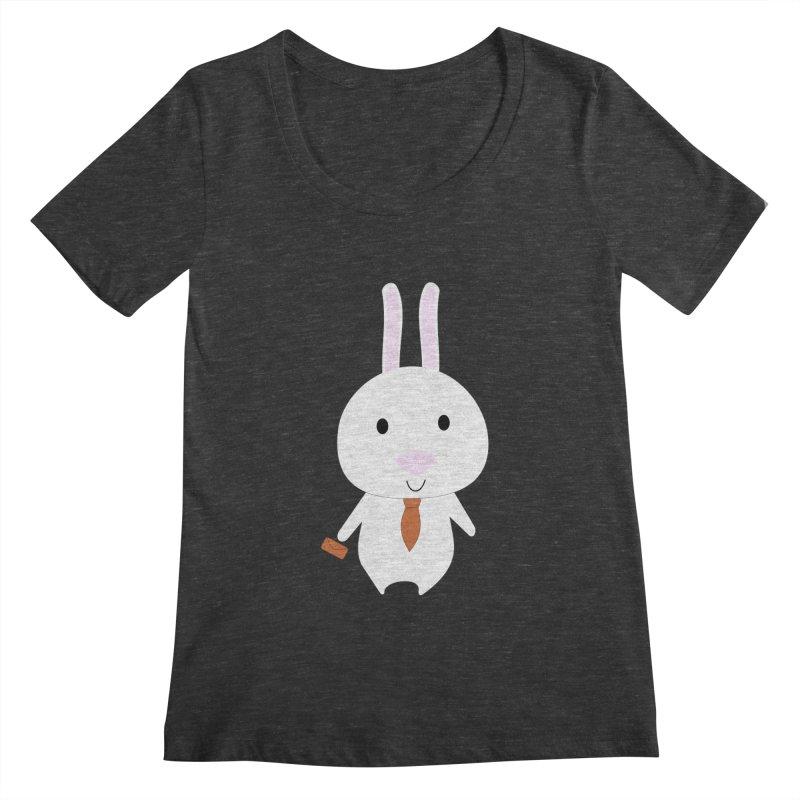 Mr Bunny Women's Scoopneck by 1001 bunnies