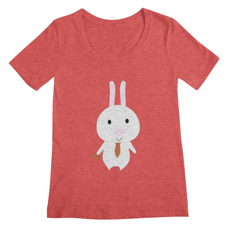 Mr Bunny Women's Scoopneck by 1001 bunnies