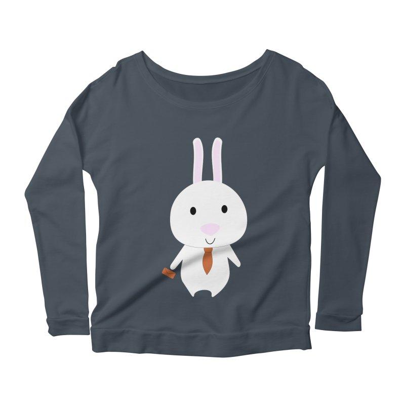 Mr Bunny Women's Longsleeve Scoopneck  by 1001 bunnies