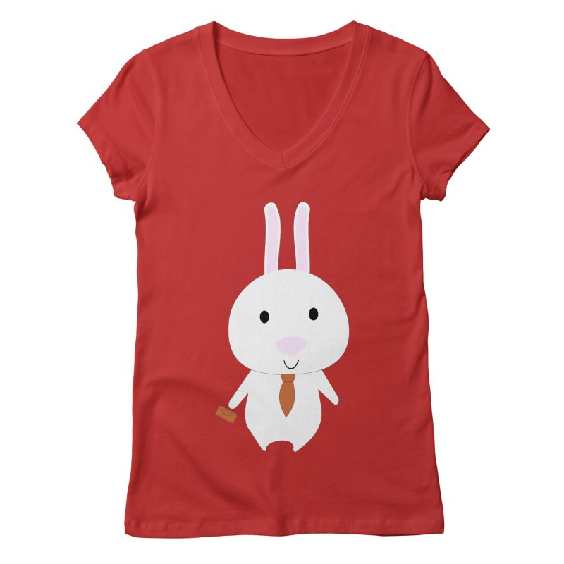 Mr Bunny Women's V-Neck by 1001 bunnies