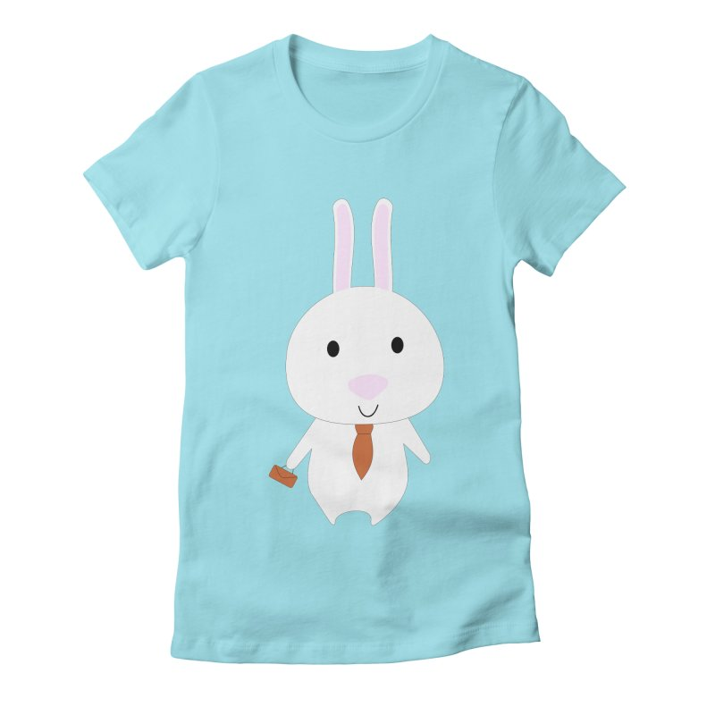 Mr Bunny Women's Fitted T-Shirt by 1001 bunnies