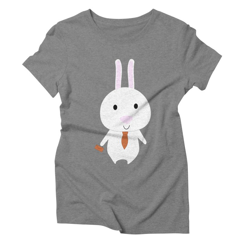Mr Bunny Women's Triblend T-shirt by 1001 bunnies