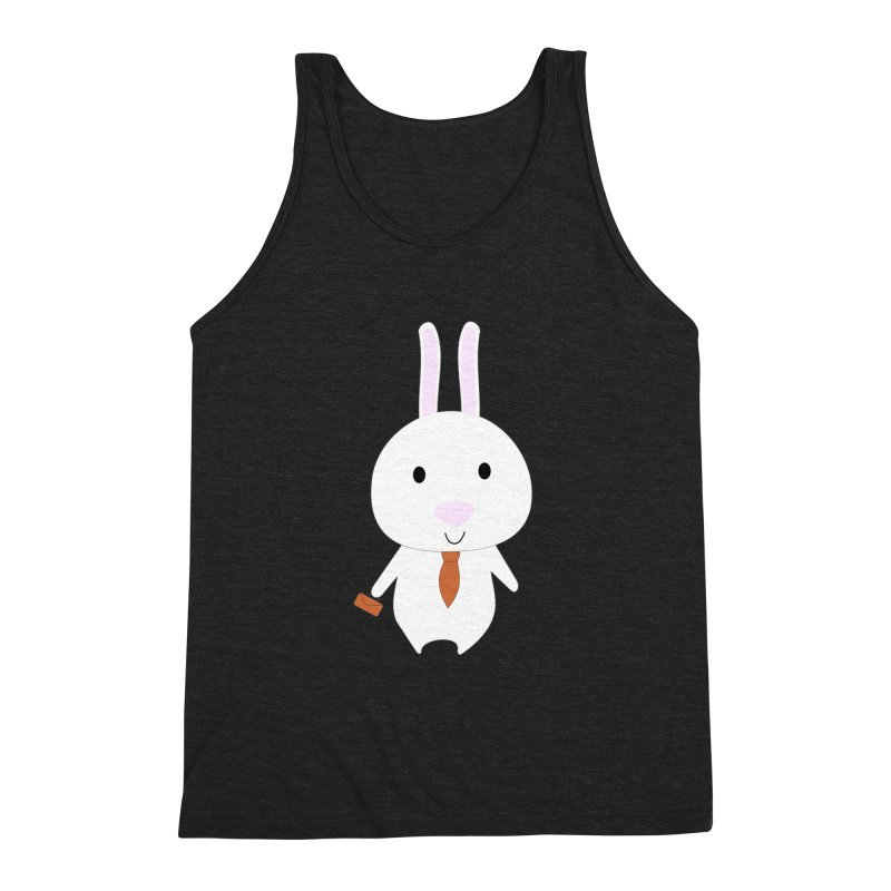 Mr Bunny Men's Triblend Tank by 1001 bunnies