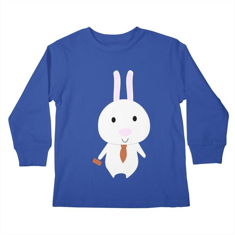 Mr Bunny Kids Longsleeve T-Shirt by 1001 bunnies