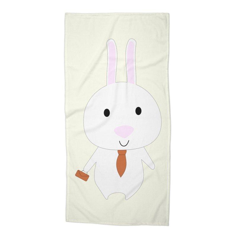 Mr Bunny Accessories Beach Towel by 1001 bunnies