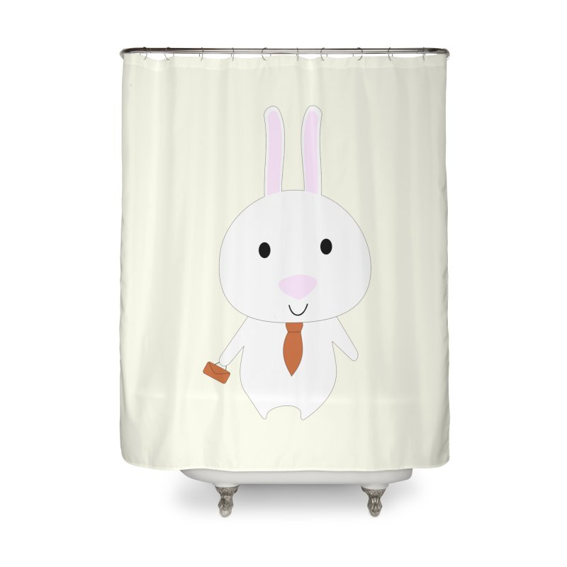 Mr Bunny Home Shower Curtain by 1001 bunnies