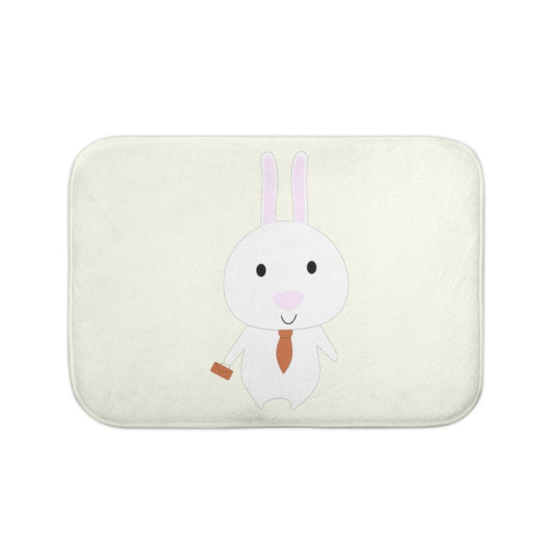 Mr Bunny Home Bath Mat by 1001 bunnies
