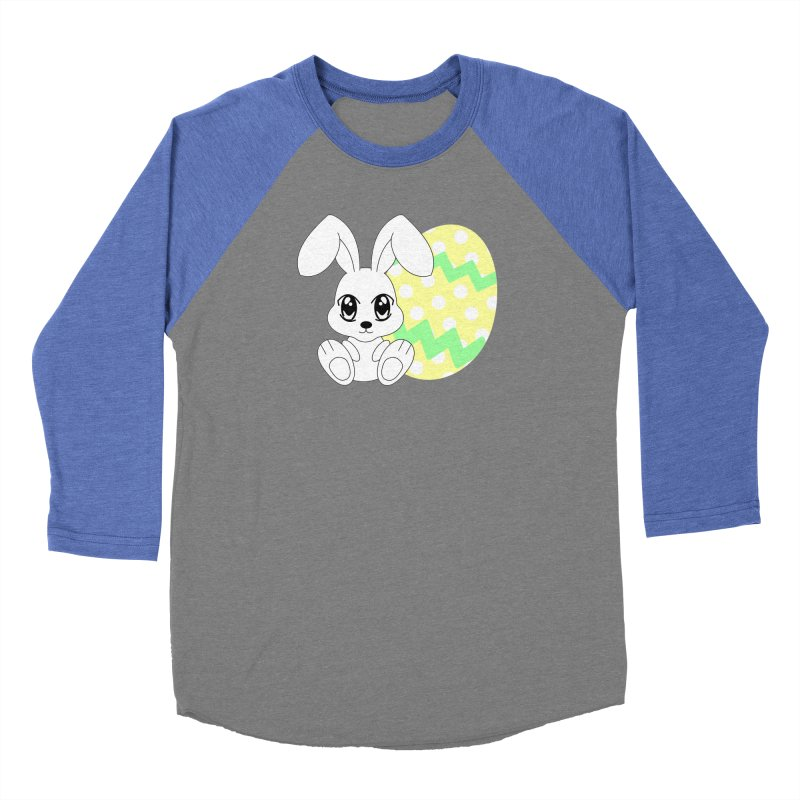 The Easter bunny Women's Baseball Triblend T-Shirt by 1001 bunnies