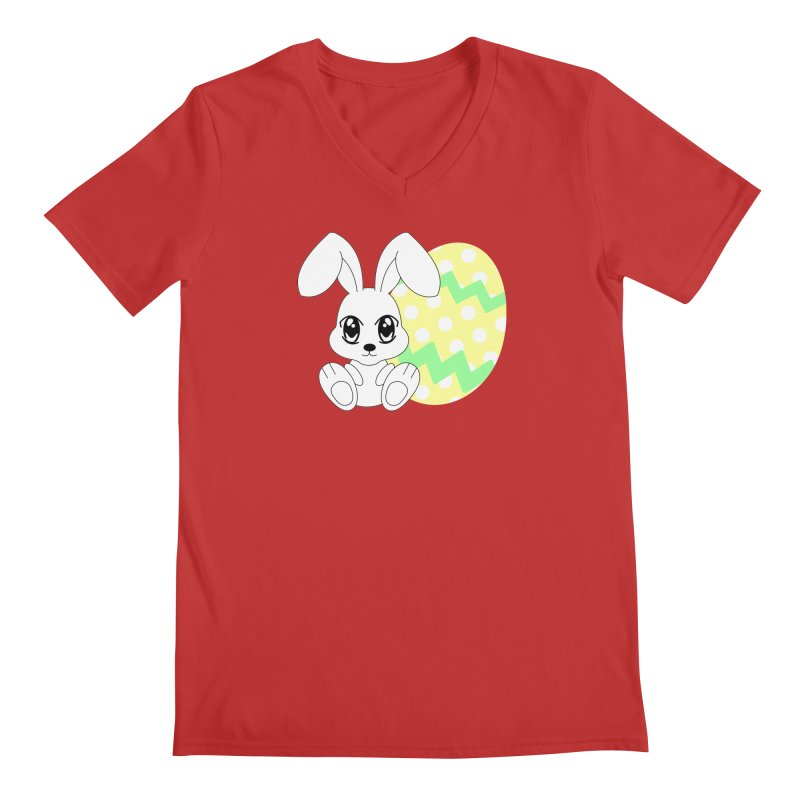 The Easter bunny Men's V-Neck by 1001 bunnies
