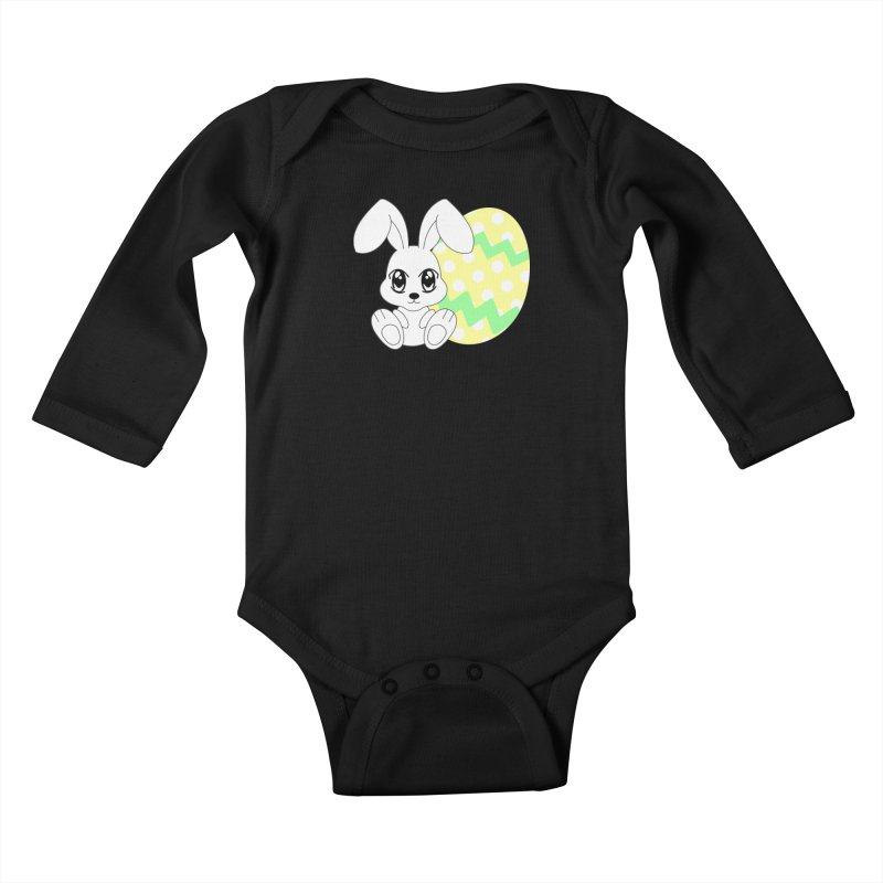 The Easter bunny Kids Baby Longsleeve Bodysuit by 1001 bunnies