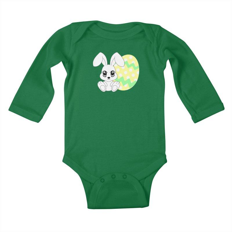 The Easter bunny Kids Baby Longsleeve Bodysuit by 1001 bunnies